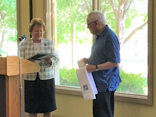 Sisters of Saints Cyril and Methodius Present Leadership Awards to Father Rolheiser and Susan Smith, RN