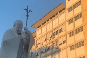 Rome's Gemelli Hospital, pictured on July 5, 2021, as Pope Francis convalesces after a surgery. (Courtney Mares/CNA)