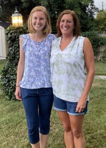 """Laura Young, left, with Our Lady of the Angels principal Amanda Young, who is not related to Laura. Laura will begin her postulancy on Sept. 8 with the Apostles of the Sacred Heart of Jesus. """"We will truly miss her here,"""" said Amanda Young."""
